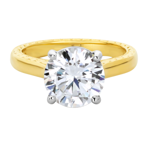 Jack Kelége diamond solitaire engagement ring in yellow gold - KGR1226Y