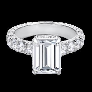 Jack Kelége emerald cut diamond enagement ring - KGR1244