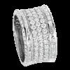 Jack Kelége platinum diamond band with diamond baguettes - KPBD807