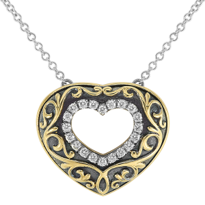 Jack Kelége diamond heart pendant necklace - KGN131
