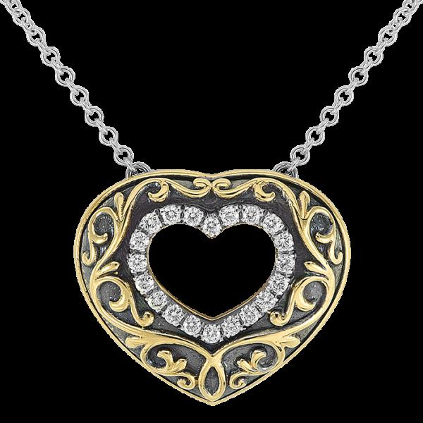 Jack Kelége diamond heart pendant necklace - KGN131