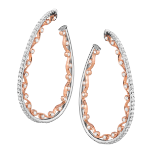 Jack Kelége 18k rose gold diamond earrings - KGE226P