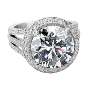 Jack Kelége diamond engagement ring set in platinum - KPR402