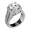 Jack Kelége diamond engagement ring set in platinum - KPR402A