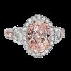 Jack Kelége pink diamond engagement ring set in platinum - KPR466