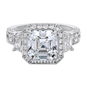 Jack Kelége asscher cut diamond engagement ring - KPR530