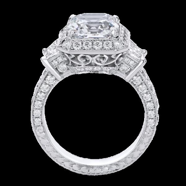 Jack Kelége asscher cut diamond engagement ring - KPR530