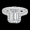 Jack Kelége emerald cut diamond halo engagement ring - KPR649