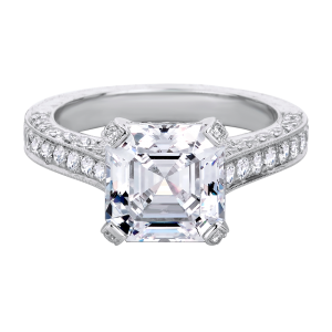 Jack Kelége asscher cut diamond solitaire engagement ring - KPR445