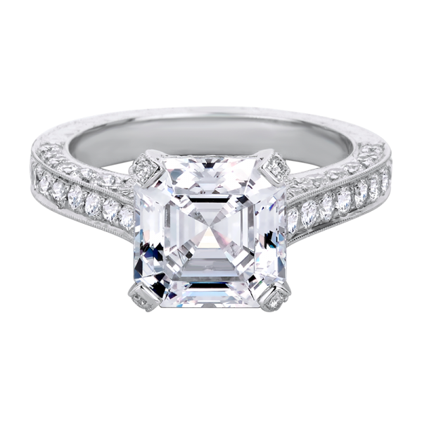Jack Kelége asscher cut diamond solitaire engagement ring - KPR445