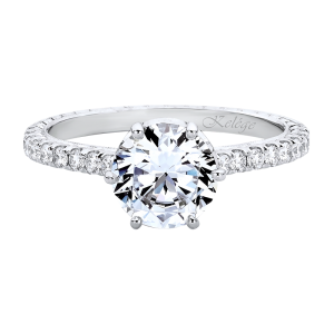 Jack Kelége diamond engagement ring with customizable hidden halo - KGR1247