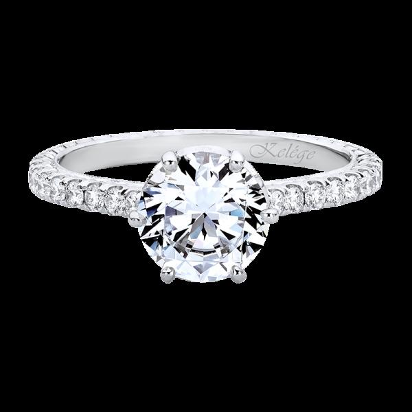 Jack Kelége diamond engagement ring with customizable hidden halo - KGR1247