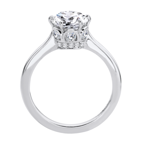 Jack Kelége diamond solitaire engagement ring with hidden halo - KGR1246