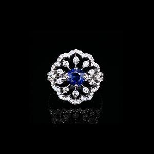 Jack Kelége sapphire ring set in 18k white gold - KGR136S