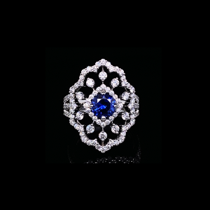 Jack Kelége sapphire fashion ring with diamond accent - KGR146S