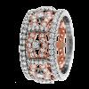 Jack Kelége diamond fashion band set in platinum and 14k rose gold - KPBD757