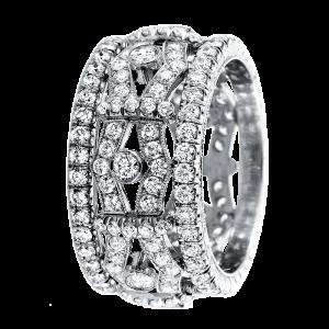 Jack Kelége diamond fashion band set in platinum - KPBD756