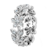 Jack Kelége diamond flower band set in platinum - KPBD606