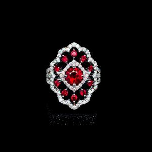 Jack Kelége Natural Ruby & Diamond Ring - KGR146R