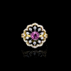Jack Kelége - Pink sapphire ring set in 18k yellow gold