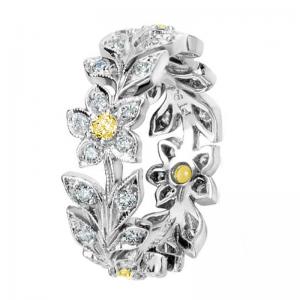 Jack Kelége yellow diamond flower ring - KPBD606-1