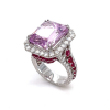 KGR152 - Jack Kelége kunzite, ruby & diamond ring